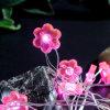 En forme de printemps Plum Flower Light Pink Copper Chaîne Firefly lumière 3AA paniers