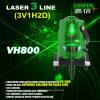 Laser 수준 공구가 수공구 기계설비 조사 계기에 의하여 Danpon 3개의 광속 녹색이 된다