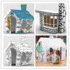 Teatro popular de la pintura de la cartulina de los cabritos DIY, teatro Paintable material de papel para los cabritos