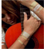 Etiqueta engomada temporal impermeable de destello metálica del tatuaje de la carrocería popular