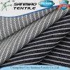 Tela cruzada del estiramiento del algodón de las Color-Rayas del añil que hace punto la tela hecha punto del dril de algodón con buena calidad