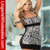 Señora Leopard Sleepwear Sexy Lingerie