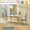 Las mesas de cristal moderno salón de banquetes baratos (A8017)