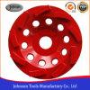 rueda de la taza de la rueda de la taza de remolino del diamante de 125m m para la piedra y el concreto