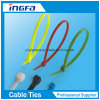 Cintas plásticas das cores do nylon 66 que travam o laço plástico das cintas plásticas