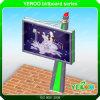 Cartelera puesta a contraluz al aire libre publicitaria solar giratoria del movimiento en sentido vertical