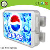Outdoor Street Middle Lamp Poste Publicité LED Light Box