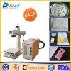 precio de la máquina de grabado del laser de la máquina de la marca del laser de la fibra de 10W 20W