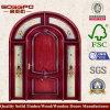 側光(XS2-036)が付いている円形デザインエントリ木製のドア