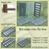 caixa magnética do gancho de pesca do compartimento magro super