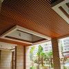 Plafond d'intérieur 40X25mm de résistance d'incendie en bois de la décoration WPC