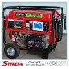 大型ホイール付き5キロワット発電ポータブル電気、LPG発電機自動キースタートとハンドル
