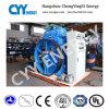 Tres compresor de pistón sin aceite de la refrigeración por agua de la etapa de la fila cinco