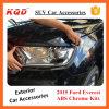 para Everest 2015/o ABS cheio preto Matte Everest plástico da tampa do farol dos jogos do cromo acessórios do esforço 2016 SUV Accessorios