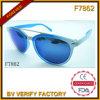 Les lunettes de soleil bleues de bijoux luxueux (F7862)