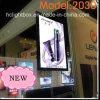 Doppelter seitlicher dünner LED heller Aluminiumkasten der Bilderrahmen-hängender Bildschirmanzeige-