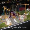 Модель промышленного масштаба строения с тележкой, машиной, местом поезда (BM-0438)