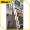 3 secties Ladder Telsescopic van het Aluminium van de Multifunctionele Brandbestrijdings
