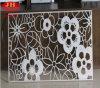 Weißes hohles Aluminium geschnitzte Blumen-Wand (JH226)