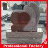Headstone vermelho de cinzeladura superior dos memoriais do granito da escultura do anjo