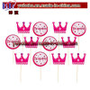 Princesa Cupcake Picks (BO-5529) de la decoración del partido de la demostración del bebé del cumpleaños
