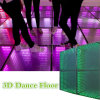 Estágio do diodo emissor de luz que ilumina o espelho portátil Dance Floor barato dos salões de baile 3D