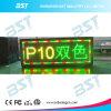 Sinal movente Semi-Ao ar livre programável do diodo emissor de luz da Duplo-Cor (P10)