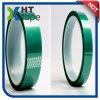 Nastro verde rivestito adesivo dell'animale domestico del poliestere del silicone termoresistente
