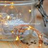 20のLEDsは白いLEDマイクロ電池ロープの豆電球の花輪を暖める