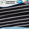 Tela hecha punto Jersey rayada algodón del dril de algodón del añil 145GSM 100%