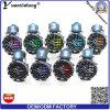 Yxl-192 Fabriek van de Horloges van de Chronograaf van de Verkoop van het Polshorloge van de Vrouwen van de Mannen van het Horloge van het Gezicht van de Wijzerplaat van de bevordering de Grote Kleurrijke Rubber Militaire Toevallige Hete