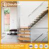 Escaleras de madera modernas L escalera recta de la dimensión de una variable con la escalera estándar australiana del pasamano de cristal