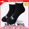 Mann-Baumwollknöchel-Form Sports Socken mit Farben-Ineinander greifen