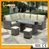 Hochwertiges synthetisches Rattan-im Freiengarten-Möbel-Ecken-Sofa-Set