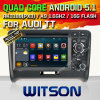 Carro DVD do Android 5.1 de Witson para Audi Tt com retrato da pia batismal DVR do Internet da ROM WiFi 3G de Rockchip 3188 1080P 16g do núcleo do quadrilátero no retrato (F9765A)