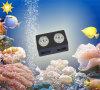 Iluminación 160W del manual y del acuario LED del control de WiFi para los pescados del tanque del acuario