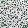 플라스틱 Vowel Beads (144의 부대) (BE447)