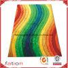 Il Rainbow colora le moquette Shaggy di zona di modo della camera da letto lanuginosa delle coperte
