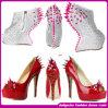 2015 Women Jeweled Dress Shoes, Rivets Wedge Heel Shoes (W-20133)