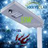 15W la calle solar integrada certificada ISO LED se enciende