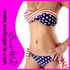Ladyのための女性Sexy Fashion米国Flag Bikinis