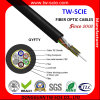 24 cables ópticos GYFTY de fibra del solo modo de Non-Metalic de la base