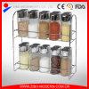 高品質の小さい小型ガラス瓶は香辛料用の棚が付いているガラススパイスの瓶のあたりで取り除く