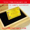 Metallfirmenzeichen-Kennsatz-Abzeichen-Kennsatz-Beutel-Typenschild-Kennsatz-Metallkennsatz für Schuh-Handtaschen-Kleidung
