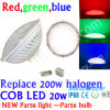 플라스틱 200W Replacement PAR56 LED Swimming Pool Light 12V, COB 20W LED PAR56