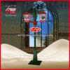 Luz de rua colorida ao ar livre da decoração do Natal do feriado do diodo emissor de luz