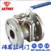 vávula de bola del borde del acero inoxidable del estruendo 2PC con el montaje ISO5211