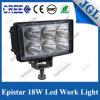 Lámpara 4X4 impermeable de aluminio del trabajo del proyector 18W LED del camino
