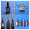 anello chiave a forma di della bottiglia di whisky di Keychains della bottiglia di vino 3D mini