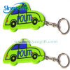 Metal de encargo Keychain del PVC 2.o suave Shaped al por mayor